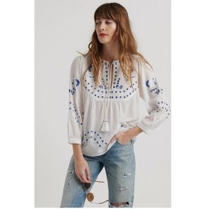 Lucky Brand Evelyn peasant Blouse NWT!